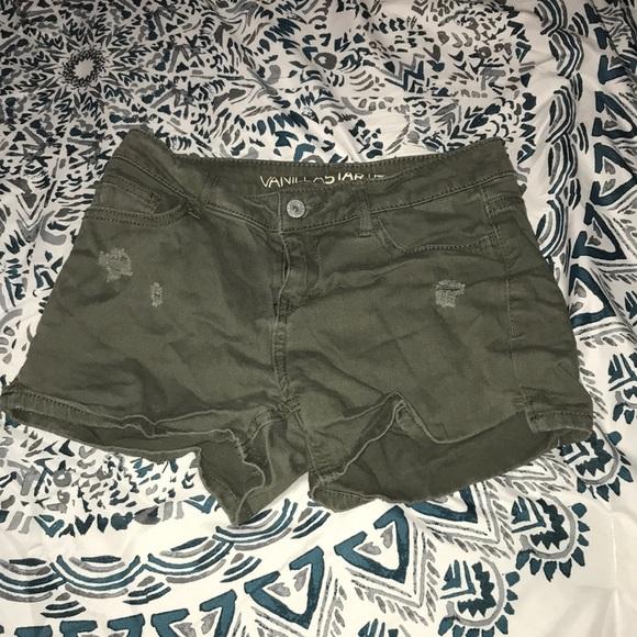 Vanilla Star Pants - Green shorts